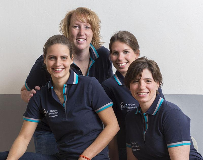 Het team van Kinderfysiotherapie Wassenaar [Fotografie Michel Porro]